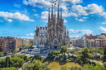 BARCELONA, SPAIN - SEPTEMBER 15,2015 : Sagrada Familia in Barcelona. Sagrada