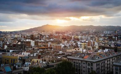 Barcelona skyline, Spain