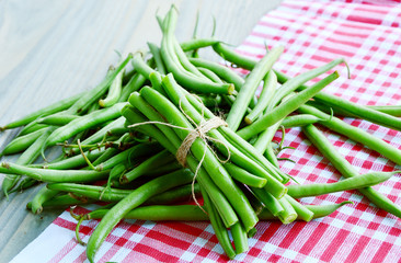 Healthy and benefits with bush beans.