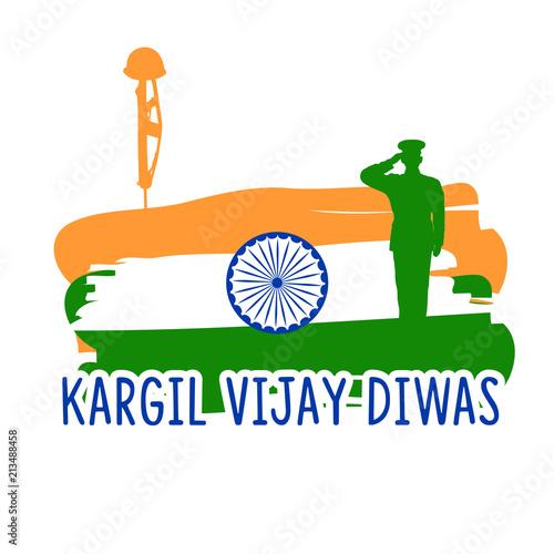 Creative beautiful abstract, banner or poster for Kargil Vijay Diwas