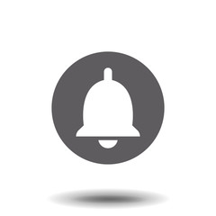 Bell Icon in trendy flat style isolated on white background. Notification symbol for your web site design, logo, app, UI. Vector illustration.