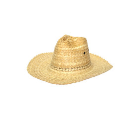 straw hat isolated on white background.