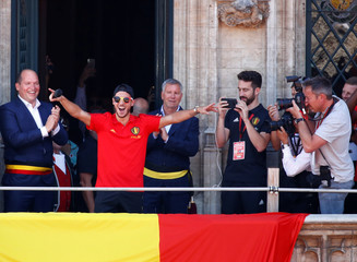 Belgian soccer team is welcomed in Brussels after taking the third place in the World Cup 2018
