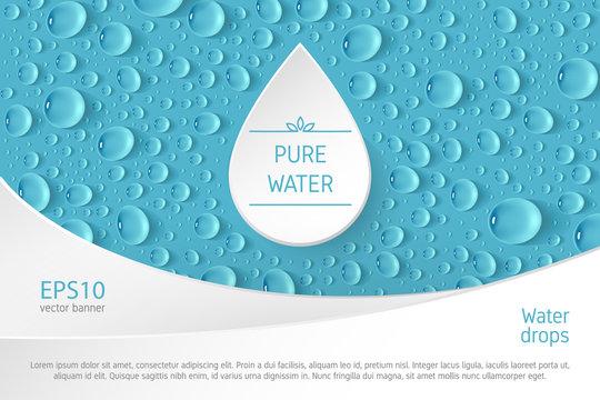Water drop banner