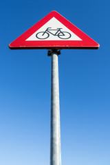 Dutch road sign: cyclists and moped riders