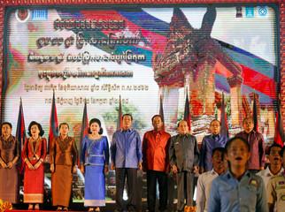 Cambodia's PM Hun Sen and his wife Bun Rany attend UNESCO anniversary in Phnom Penh