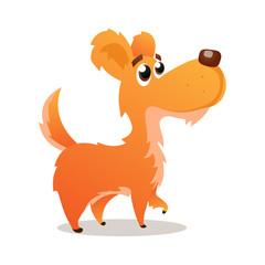 Cute cartoon dog isolated