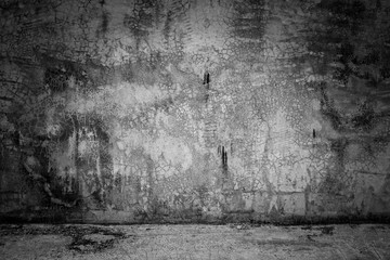 abstract background black room dark concrete wall and floor Wall mural