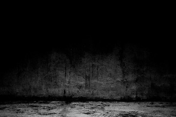 abstract background black room dark concrete wall and floor