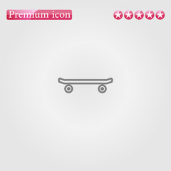 skateboard icon vector.Perfect grey illustration on white background