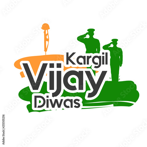 Creative beautiful abstract, banner or poster for Kargil