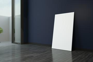mockup poster in modern empty room