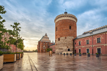 Romanesque castle tower in Lublin, Poland Wall mural