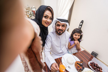 Arabian family at home