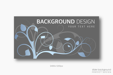 Background Design with Floral style