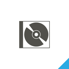 Drive icon, CD icon, vector best flat icon on white background , EPS 10