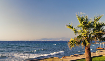 Kusadasi turkey beachfront and sea views. The nearest national park