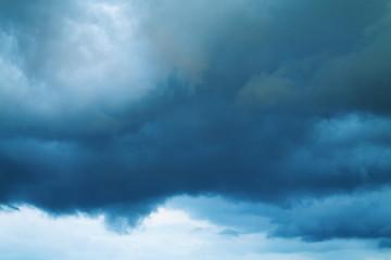 Dark stormy sky. The dark blue sky before the storm