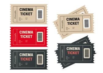 Cinema ticket. Movie tickets. Event icons