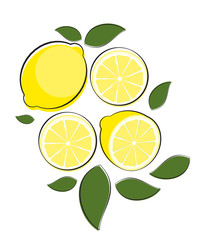Abstract Lemon Natural Background Vector Illustration