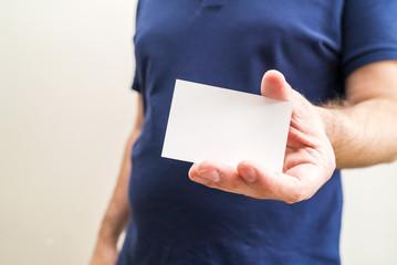 hold a card