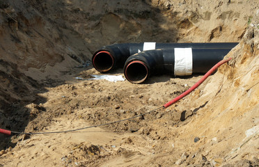 Repair of communications. Replacement of heat supply pipes.