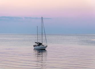 yacht on  roadstead