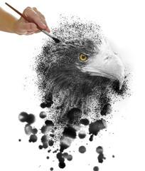 Steller's sea eagle paint on tablet