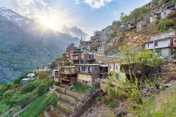 Howraman village in Zagros Mountain. Kurdistan Province, Iran.