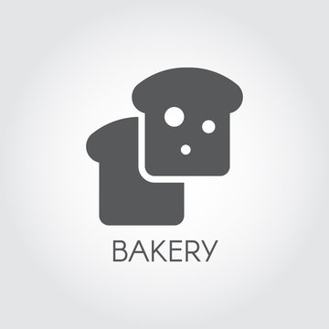Bakery glyph icon. Food pastry graphic symbol. Black flat logo of bread piece or cake. Cooking symbol. Vector illustration for grocery stores, menu, price list and other culinary sites and mobile apps
