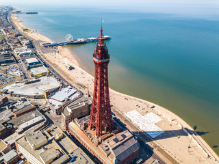 Blackpool tower in Blackpool, UK