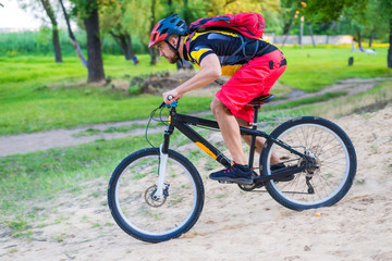 Concept of extreme cycling, enduro.