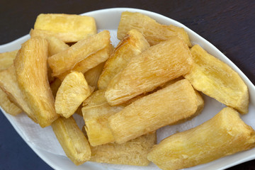 Food of boteco: fried manioc