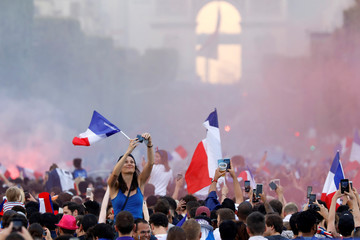 Soccer Football - World Cup - Final - France fans celebrate