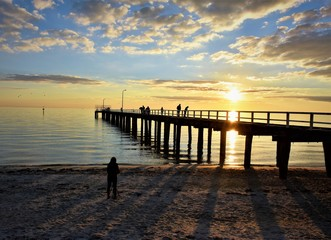 Sunset at Seaford pier.Australia