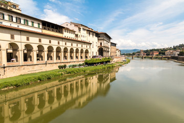 Arno River through Florence Italy