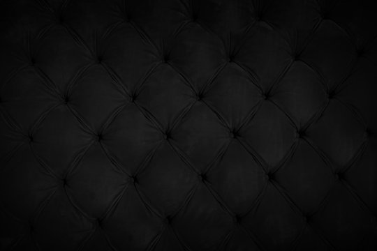button black leather tufting wall pattern background