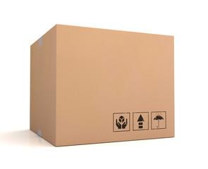 blank cardboard box concept  3d illustration