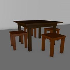 стол с табуретками для кухни или столовой