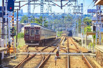 線路と電車の風景