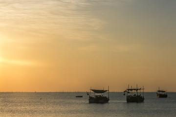 Sunrise over Fishing Boats near Xiapu, Fujian, China