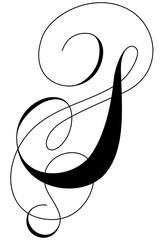 Calligraphy Alphabet Letter S