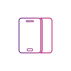 smartphone line, gradient icon