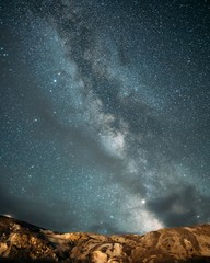 Milky Way in Yellowstone National Park at Mammoth Hot Springs