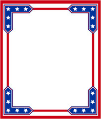 Stylized USA flag frame with empty space for your text and images.