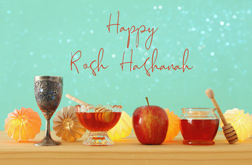 Rosh hashanah (jewish New Year holiday) concept. Pomegranate raditional symbol.