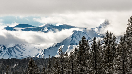 Clouds over the Sierras