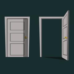 door illustration vector