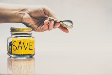 Saving money for the future, sustainability concept.