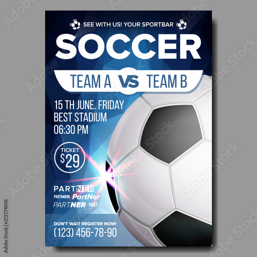 soccer poster vector sports bar game event announcement football